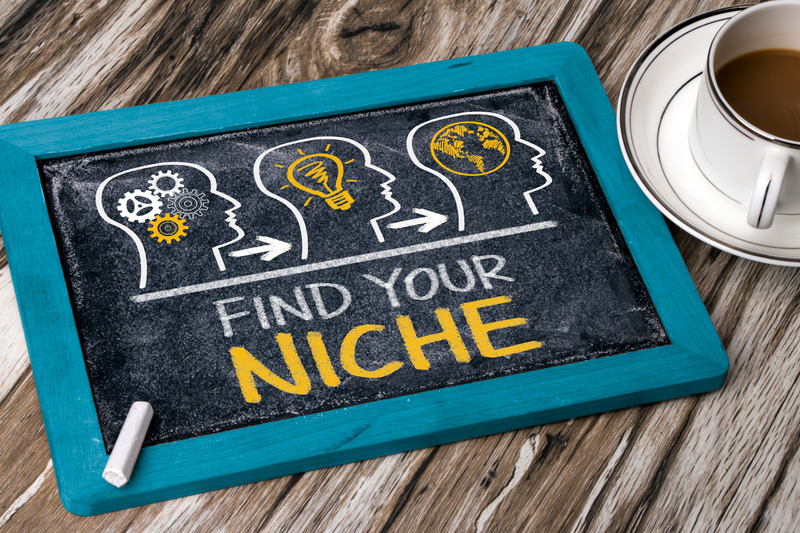 Sign that says find your niche