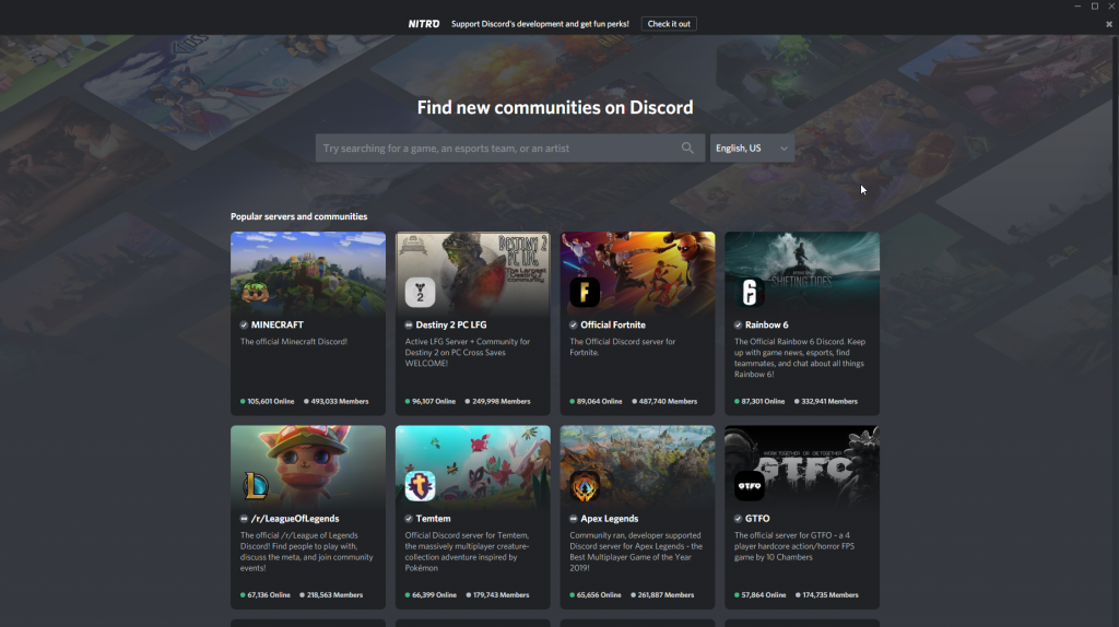 Discord Community page