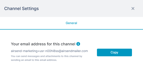 Image of AirSend channel settings