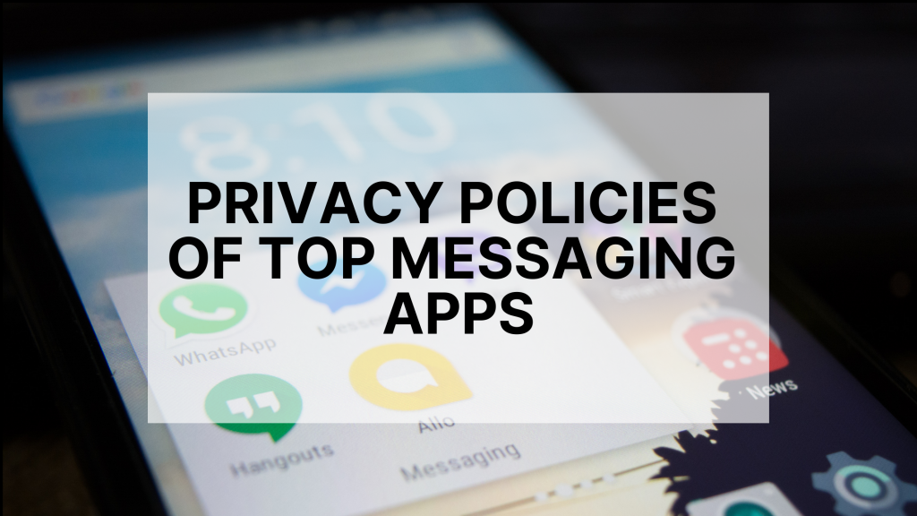 Privacy policies of messaging apps